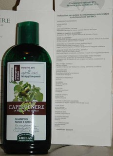 Recensione Shampoo noce e china Capelvenere Helan