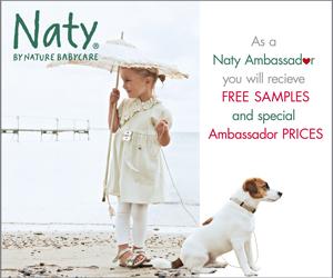 Campioni omaggio pannolini biodegradabili Naty Babycare per neonato
