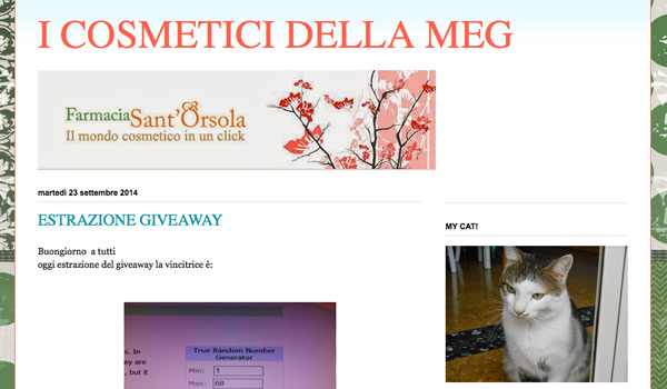 Intervista all' eco bio blog I Cosmeticidellameg
