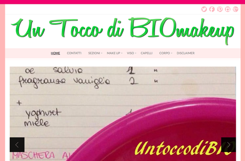 Intervista all' ecobio blog UNTOCCODIBIOmakeup