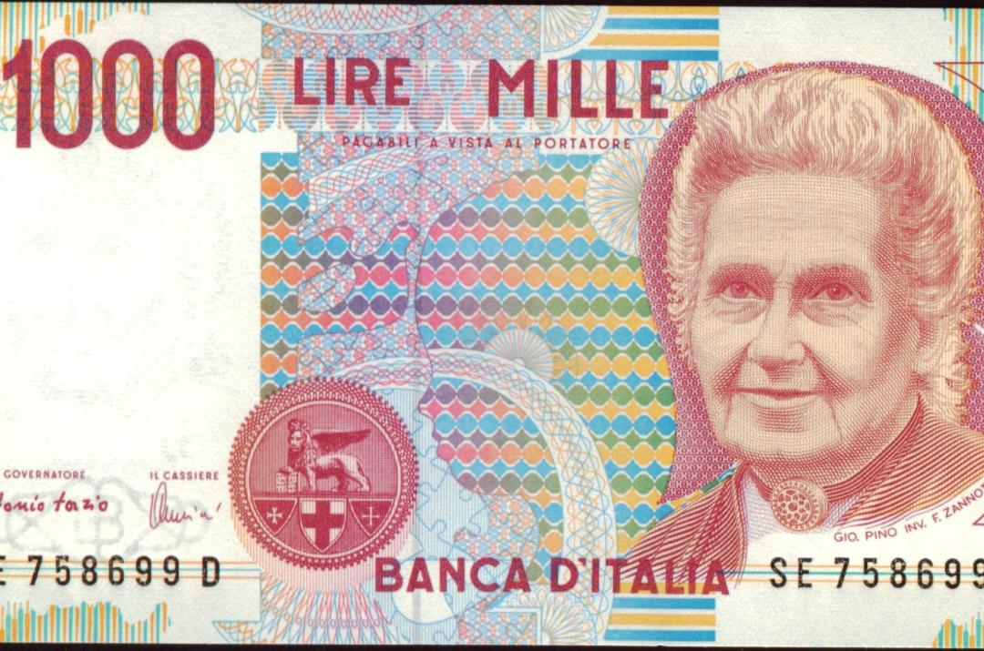 metodo montessori 1000 lire