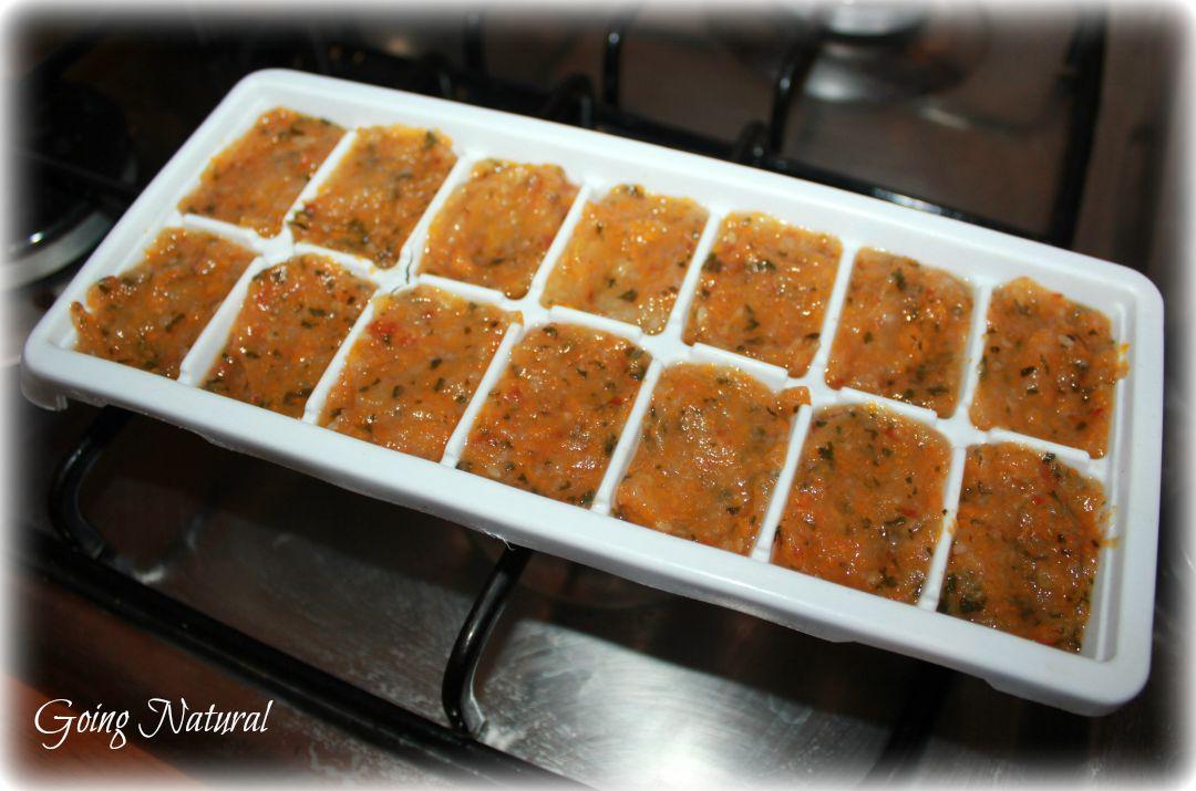 brodo vegetale per svezzamento congelare passato