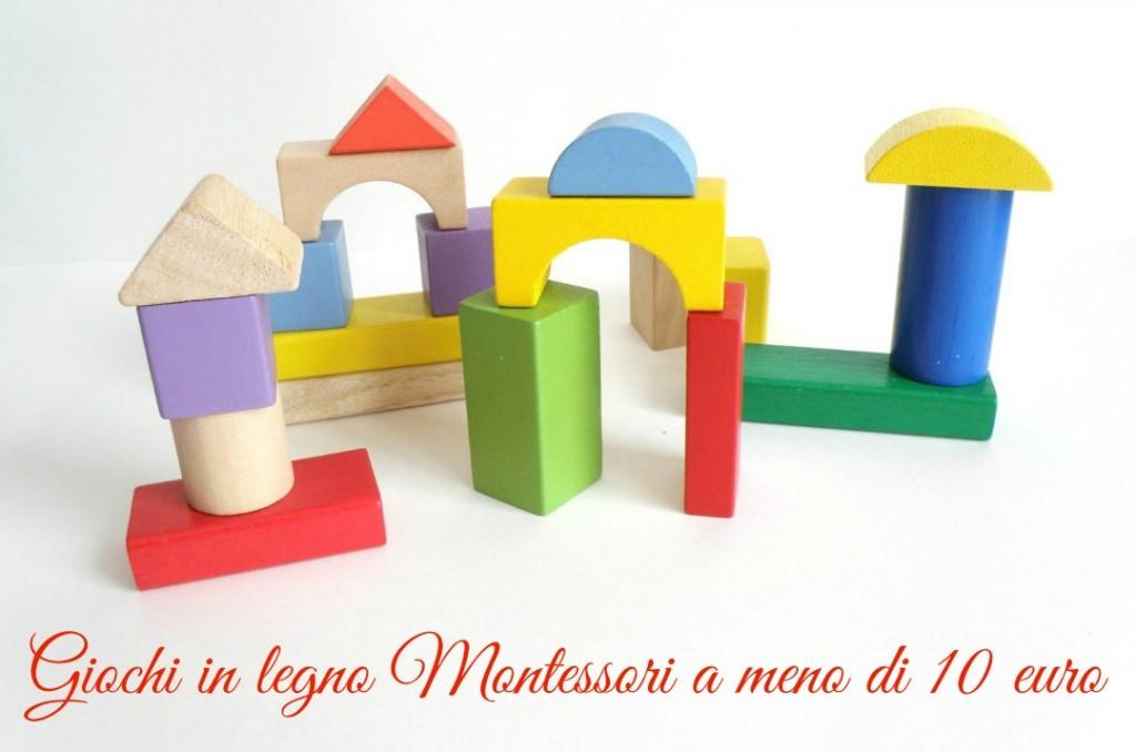 Giochi in legno Montessori a meno di 10 euro : 90+ idee