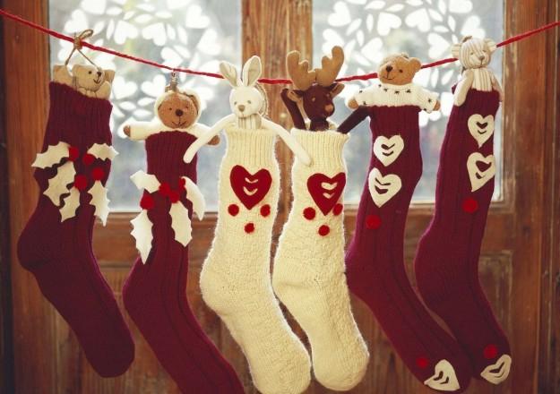 calze della Befana fai da te con calzini