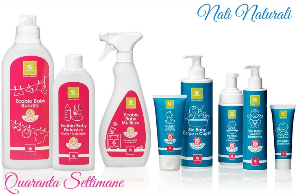 Nati Naturali, i bio cosmetici e detergenti baby di Quaranta Settimane