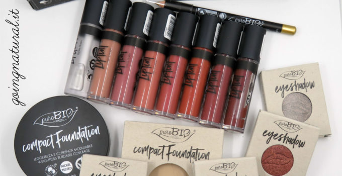 Purobio Fall Winter 2017 : fondotinta compatto, lip tint & eyeliner