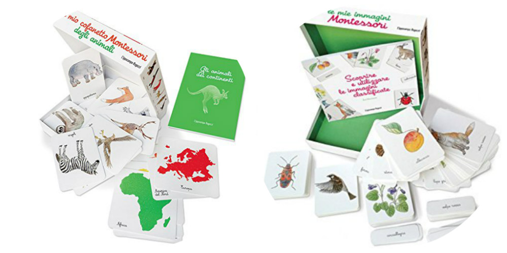 cofanetto montessori animali