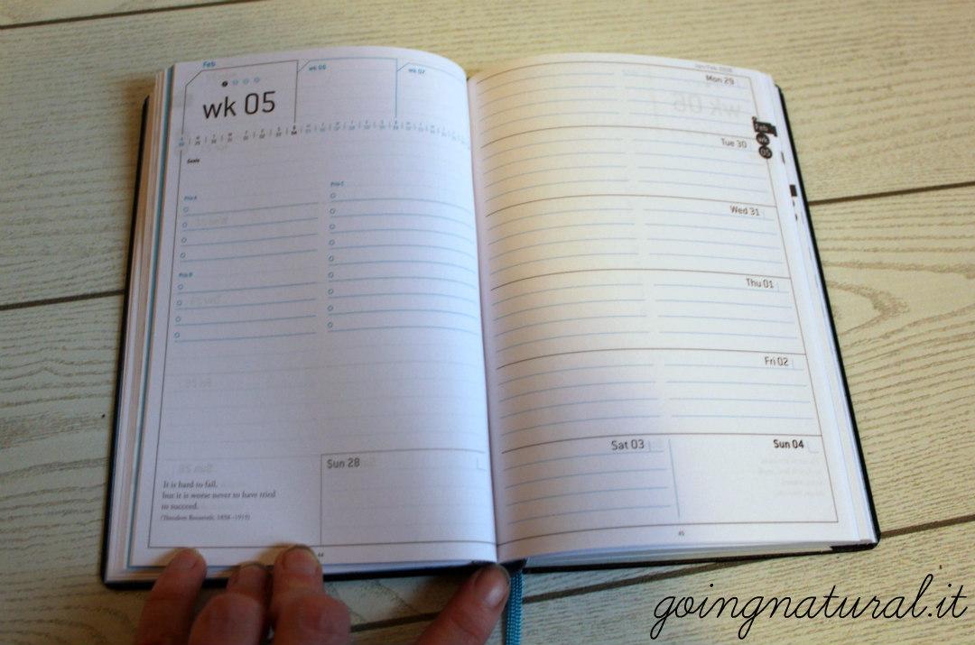 planning settimanale agenda