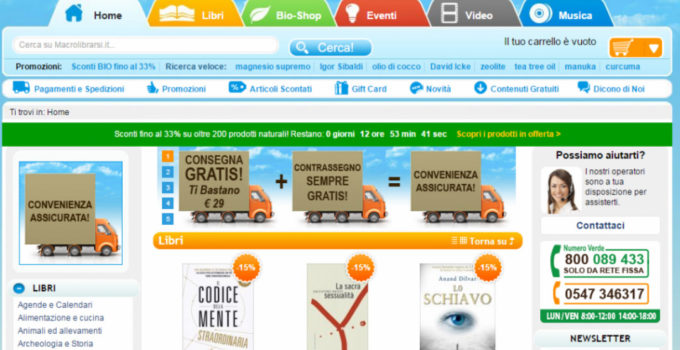 Macrolibrarsi per gli acquisti di cosmesi e alimenti bio online