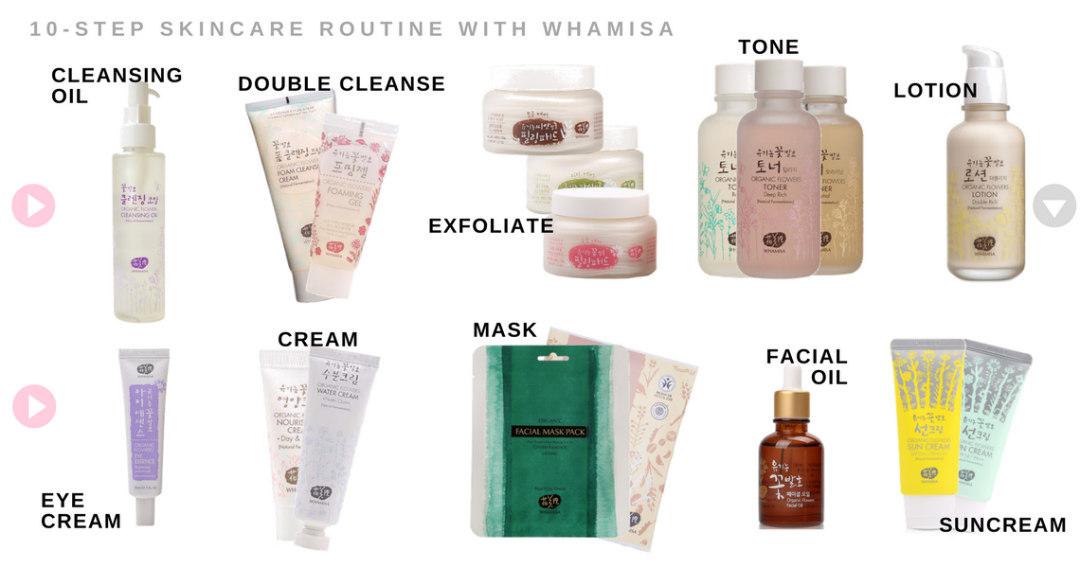 whamisa 10 step skincare