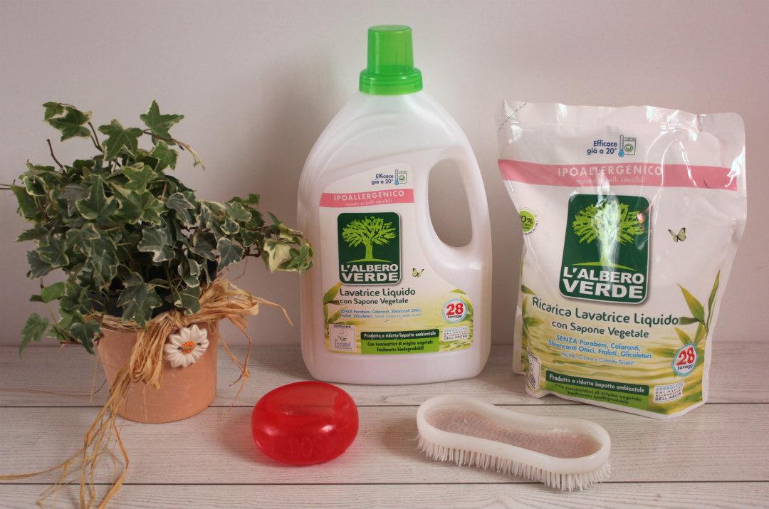 l'albero verde detersivo lavatrice