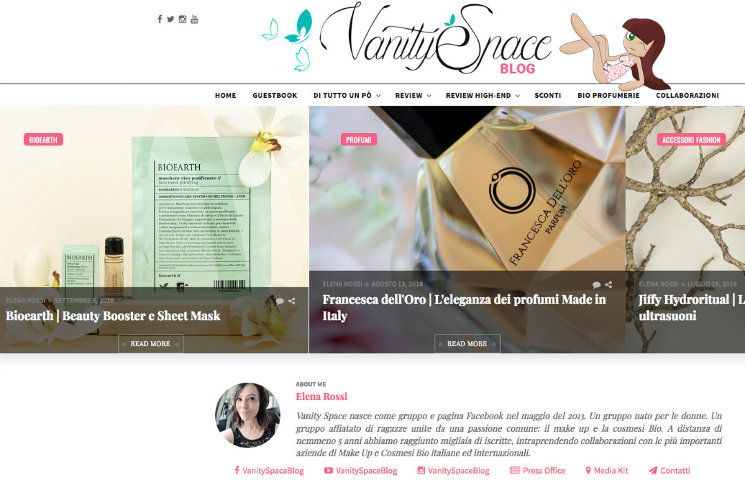 Vanity space blog videata