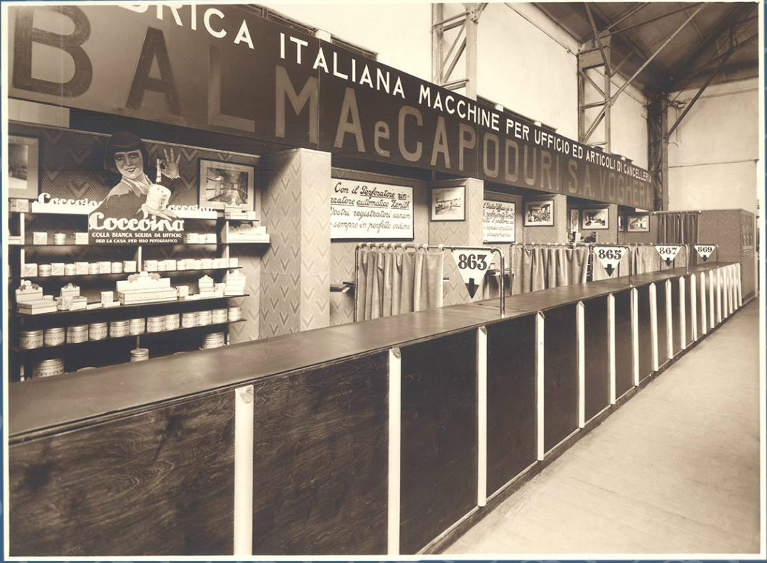 coccoina stand fiera campionaria 1949